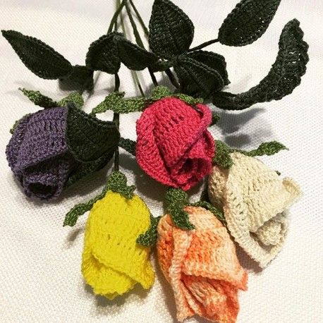 Free Crochet Long Stem Rose Pattern : Pinterest The world s catalog of ideas