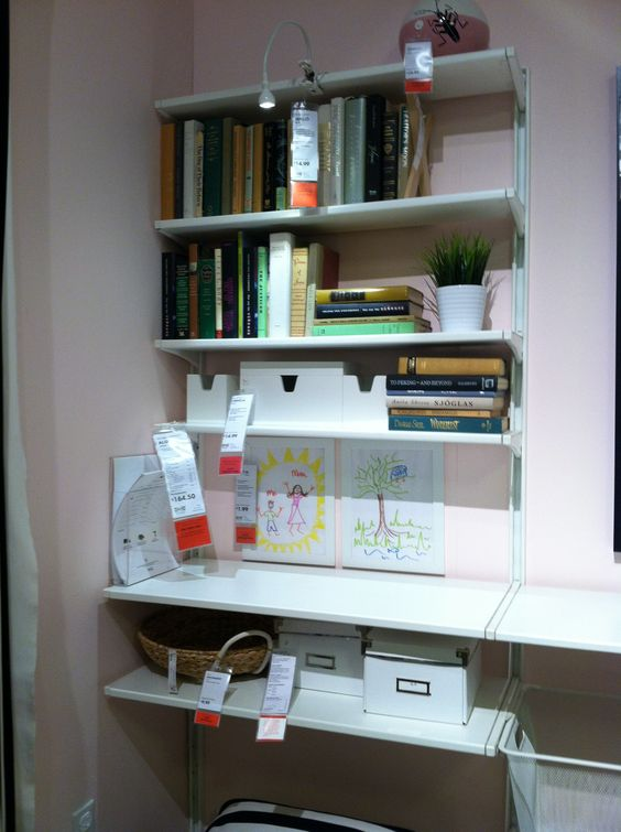 ikea wall shelves algot home office organization pinterest shelves wall shelves and ikea. Black Bedroom Furniture Sets. Home Design Ideas