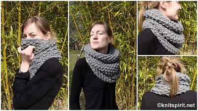 gros snood  au point de riz 38 MAILLE AIGUILLES 15 POINT DE RIZ