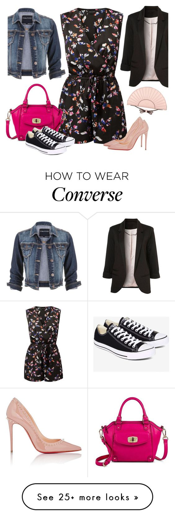 """""""Day to Night Romper"""" by mmmartha on Polyvore featuring maurices, Merona, RED Valentino, Converse and Christian Louboutin"""