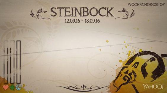 Wochenhoroskop: Steinbock (KW37 - 2016)