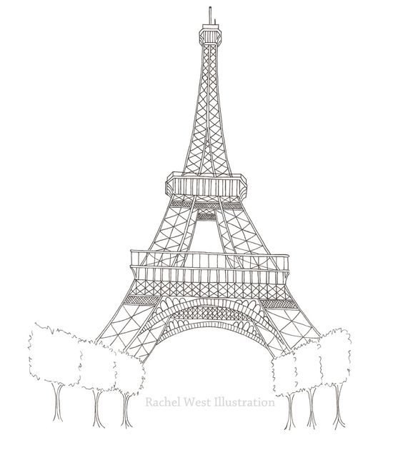 easy eiffel tower doodle - photo #20