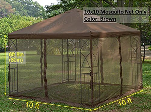 Apex Garden Universal 10 X 10 Gazebo Replacement Mosquito Netting Brown Review Https Gardendesignideas Info Ap Gazebo Backyard Gazebo Conversation Set Patio