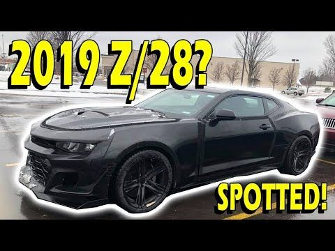 Spotted 2019 2020 6th Gen Camaro Z 28 Youtube Camaro Camaro
