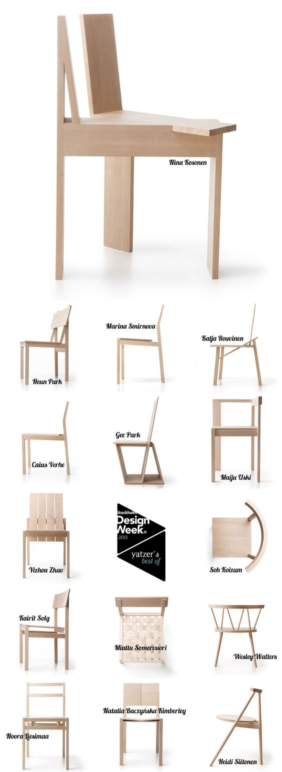 The 'Forms Of A Chair' Project by the First-year MA students Of Aalto University School of Arts