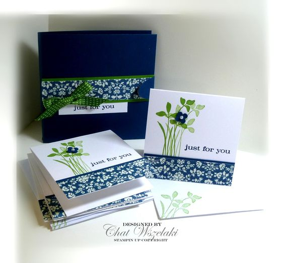 5/20/2012; Chat at 'Me, My Stamps and I' blog using SU products; Just Believe stamp set (3 X 3 note cards anne card holder)