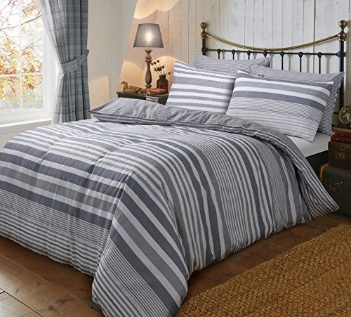 Sbl Trendz Grey Stripes Flannelettee Super King Duvet Cov Https Www Amazon Co Uk Dp B01m10gihz Ref C Super King Duvet Covers Duvet Cover Sets Duvet Covers