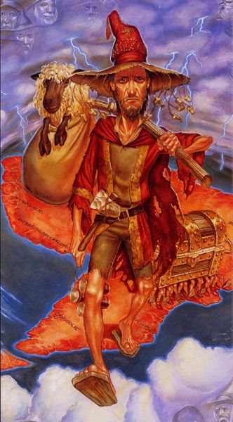 I read the last story to my son, and he cried because Rincewind was over. Amazing portrait. Rincewind by Paul Kidby