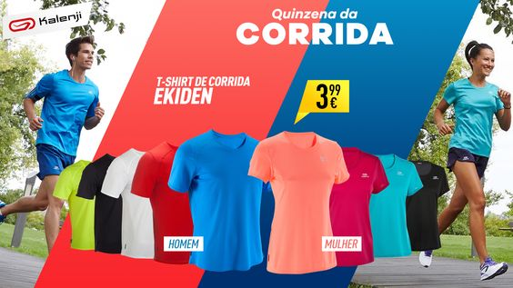 T-shirt de corrida Ekiden da Kalenji