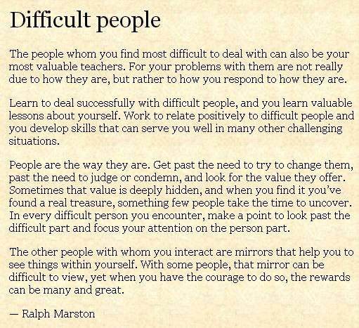 Difficult People Quotes 5 Mantras For Dealing With Difficult People And Tense Situations
