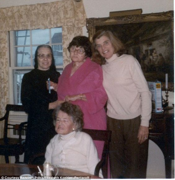 Sister Paulus, Rosie, Eunice, and Rose Kennedy at Hyannis Port when Rosemary came for a visit. In 1949, on learning that Rosie was being sexually abused at Craig House, Joe had her moved to Saint Coletta, a home for the mentally retarded in southeastern Jefferson, Wisconsin. She was cared for by Sister Paulus