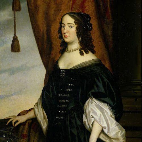 Portret van Amalia van Solms (1602-75), Gerard van Honthorst, 1650 - Rijksmuseum: