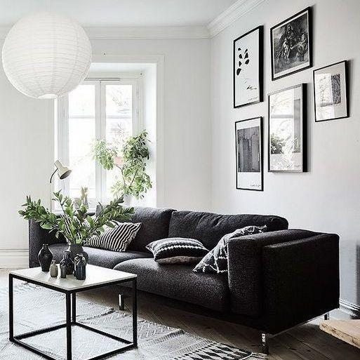 31 The Start Of White Walls Living Room Athomebyte Black