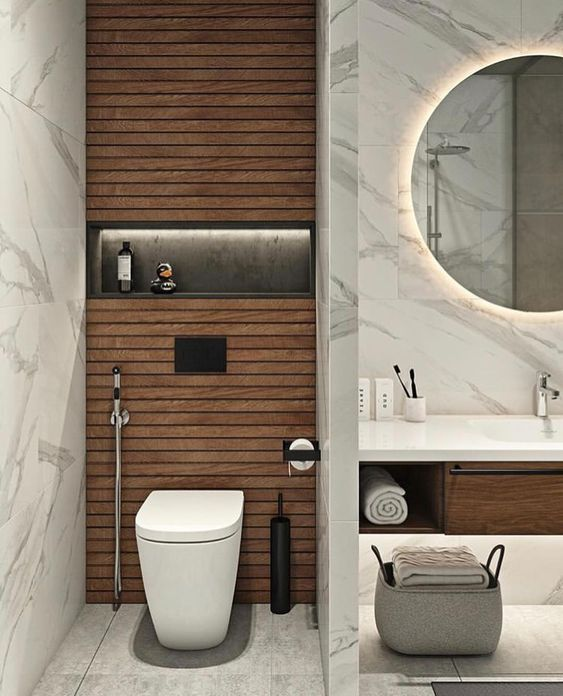 Marble, whether black or white, creates a different feeling that will also affect your mood. For a more detailed and closer look of the marble bathroom ideas, we've collected some of the inspiration below!