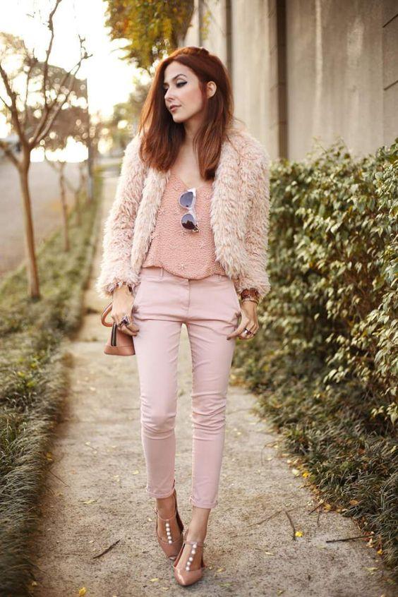 look com tom rosa pastel será muito usado no outono/inverno 2017: