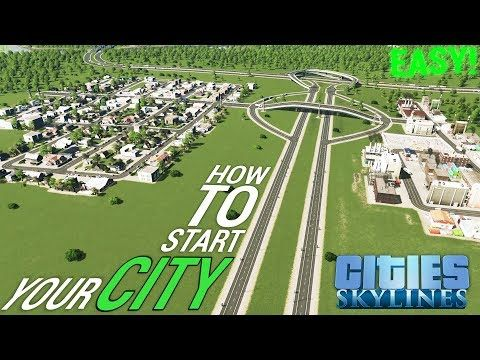 How To Start Your City Easy Road Layout Tutorial English German Cities Skylines Youtube City Layout City Skylines Game City
