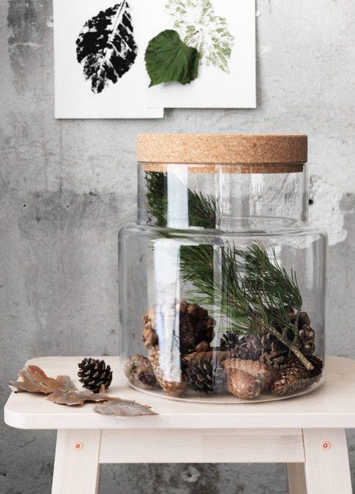SINNERLIG opbergpot met deksel | #IKEA #IKEAnl #kurk #DIY #tip #cadeau #IlseCrawford