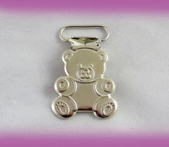 "25 pieces of 3/4""  20mm teddy bear pacifier, mitten suspender clips"