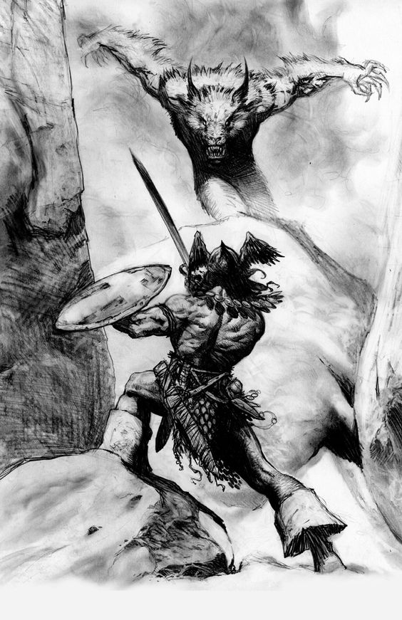 Conan is a Cimmerian, a barbarian of the far north; he was born on a battlefield and is the son of a blacksmith. Description from fantasyfaceoff.proboards.com. I searched for this on bing.com/images