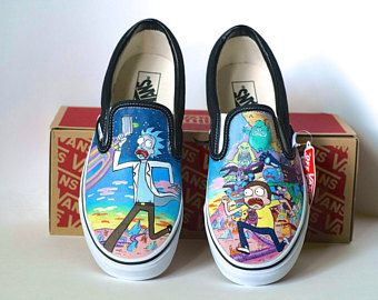 Custom Hand-Painted Vans Shoes: Rick