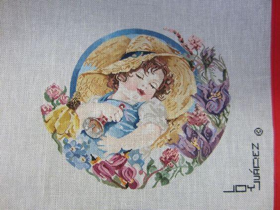 Needlepoint Canvas Little Boy Blue by Joy Juarez #JoyJuarez