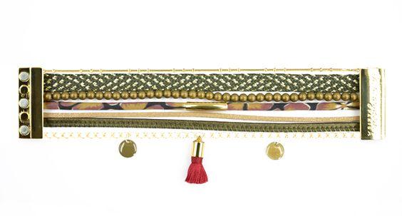 Pour réaliser son bracelet ″Python″, on choisit une harmonie de couleur. Un peu de colle dans un fermoir magnétique, c'est très facile !! #bijoux #LaDroguerie