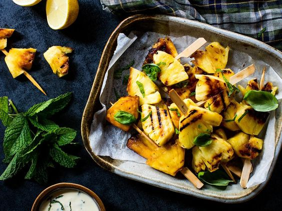 Pineapple Skewers Recipe - This dessert recipe is quick and easy