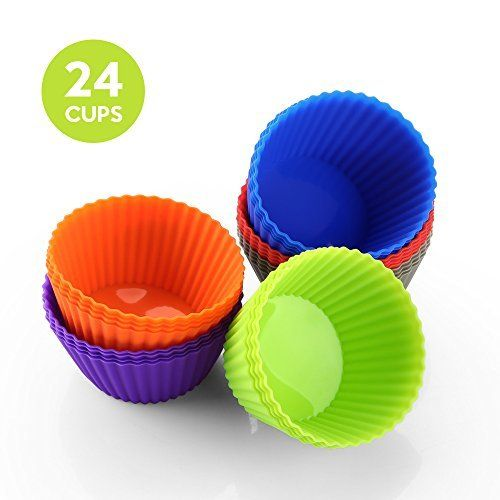 Amazon Silicone Muffin Cups Pack Of 24 Just 5 84 W Code Reg