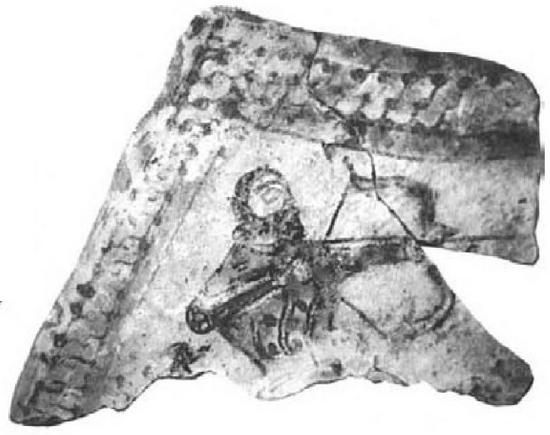 Fatimid Ceramic Wall-Plaque of Archer from the Sabra Palace, 11th century
