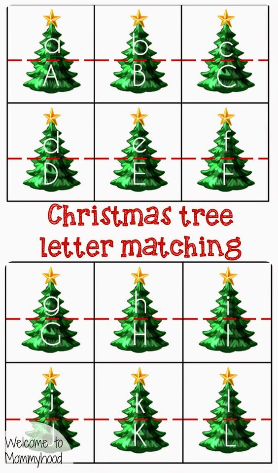 Christmas tree letter matching welcome to mommyhood for Christmas tree letters