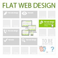 30 FRESH AND COOL EXAMPLES OF FLAT WEB DESIGN