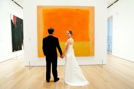 can't get over the light! art institute of chicago wedding via elizabeth anne designs