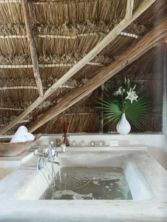 Bathroom Coqui Coqui Tulum Hotel at the Riviera Maya, Mexico