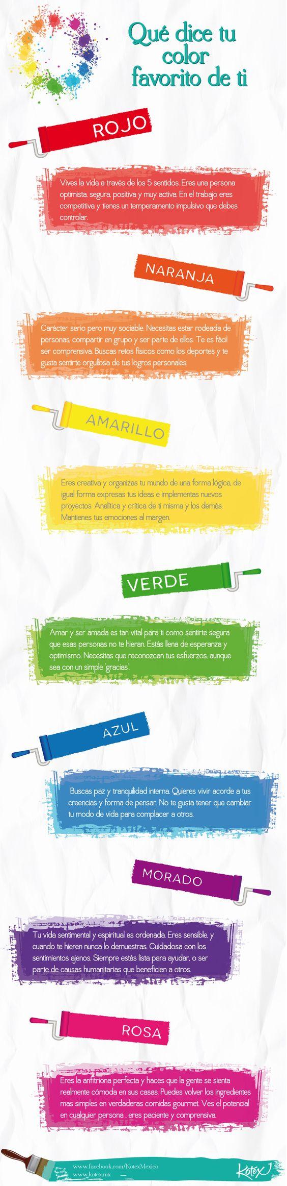 Los colores tienen distintos significados, ¿sabes cuáles son?   #Color #Meaning #Infografía