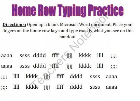 Collection of Keyboarding Practice Worksheets Sharebrowse – Keyboarding Worksheets