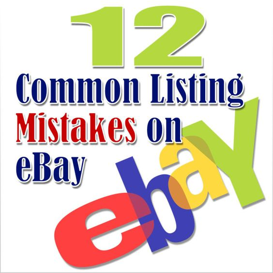 If you are interested in selling products online, here is a post that explains 12 common listing mistakes on eBay you should avoid.