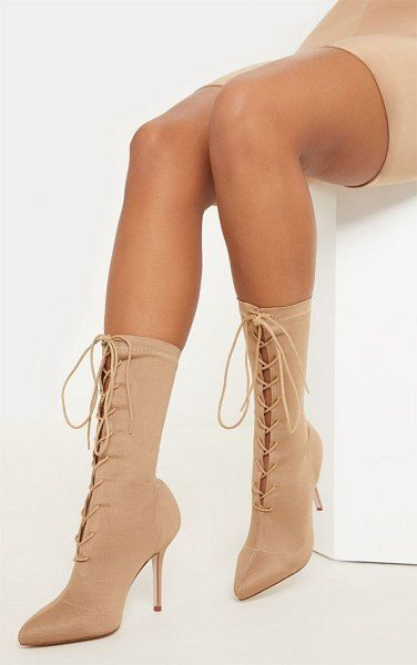 Lace up ankle boots, High heel boots