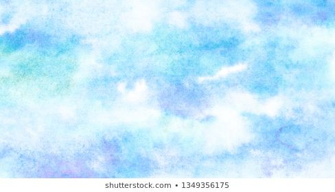 Creative Paper Textured Hand Drawn Aquarelle Painted Light Sky