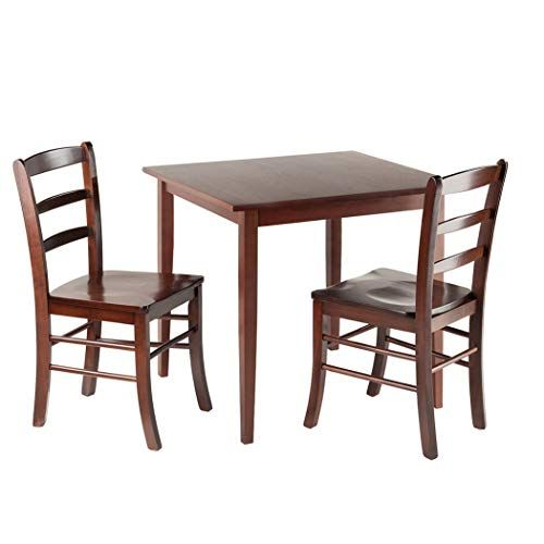 Wood Style Premium Decor 3 Pc Square Dining Table With 2 Chairs