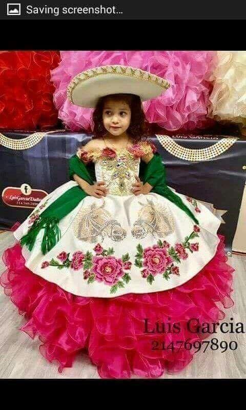 Vestido Hermoso En 2019 Vestidos Mexicanos Para Niña