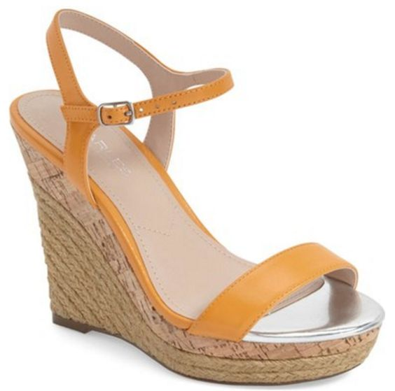 Ankle Strap Espadrilles in Marigold Leather