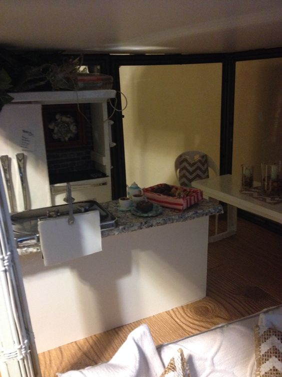 Glass doll house for 12 inch dolls
