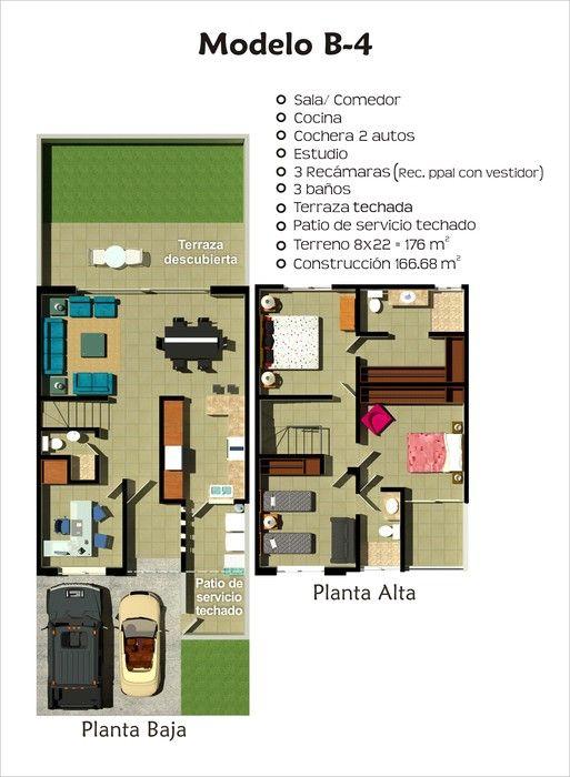 Planos de casas y plantas arquitect nicas de casas y - Modelos de casas de una planta ...