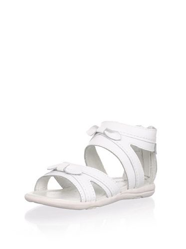 60% OFF Billowy Kid\'s Criss-Cross Sandal (White)