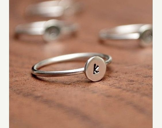 Initial Ring - Personalized Ring  - Initial Jewelry - Custom Jewelry