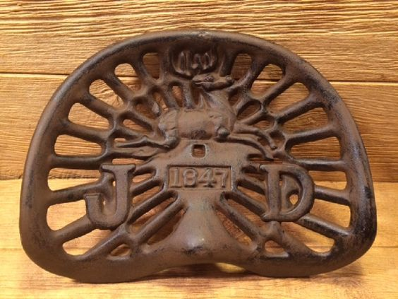 Repro Tractor Seat : Reproduction vintage rustic cast iron jd tractor seat