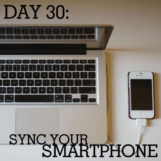Time to sync your smartphone!