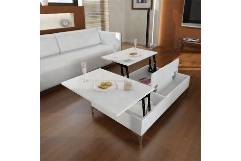 Table Basse Esinti Br Blanc Table Basse Table Basse Blanc Idee Rangement