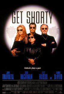 Get Shorty (1995)  directed by Barry Sonnenfield.  Cast: John Travolta, Gene Hackman, Rene Russo and Danny DeVito.  great screenplay.  Shown at our film club in February 1997
