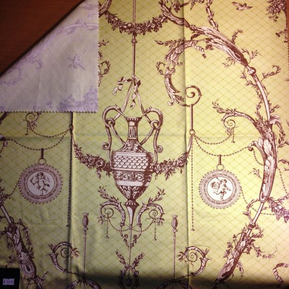 3 Assorted Vintage York Thibaut Fabrics 26'' x 25'' by Kamilalux, $6.99